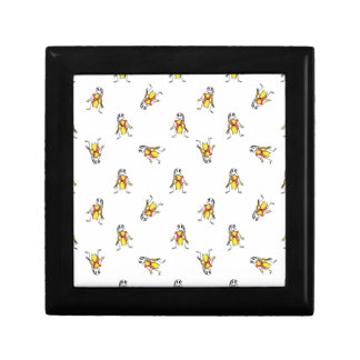 Pencil Drawing Scarecrows Pattern Design Gift Box