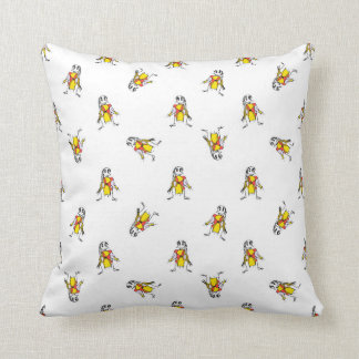 Pencil Drawing Scarecrows Pattern Design Throw Pillow