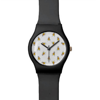 Pencil Drawing Scarecrows Pattern Design Wristwatches