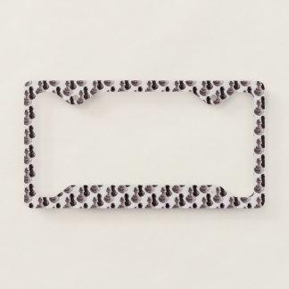 Pencil Drawn Pawns Pattern Chess License Plate Frame
