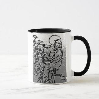 pencil Drummer charcoal Mug