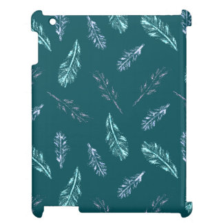 Pencil Feathers Glossy iPad Case