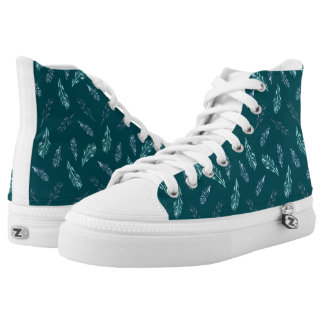 Pencil Feathers High Top Shoes