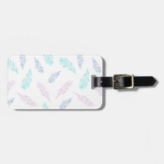 Pencil Feathers Luggage Tag