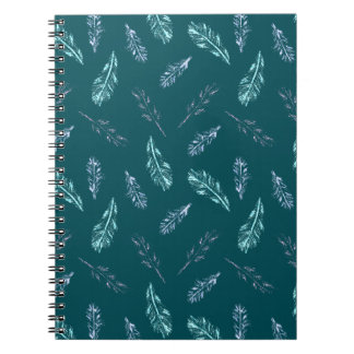 Pencil Feathers Spiral Notebook
