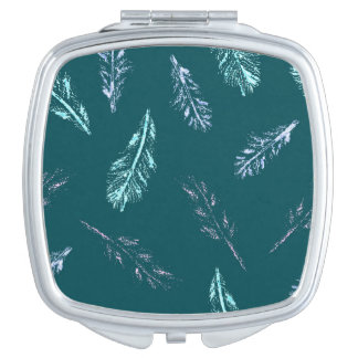 Pencil Feathers Square Compact Mirror