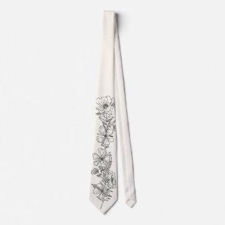 Pencil Flowers drawn in Tie