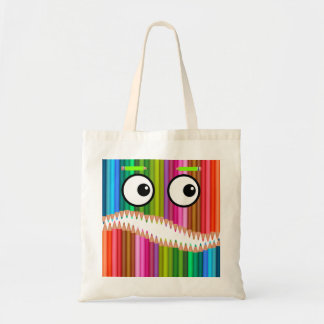 Pencil Monster Tote Bag