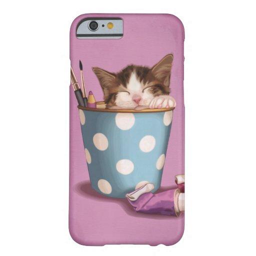 Pencil pot kitten iPhone 6 case