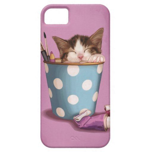 Pencil pot kitten iPhone 5 covers