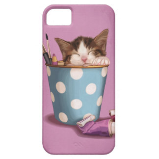 Pencil pot kitten case for the iPhone 5
