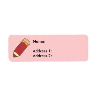 Pencil Return Address Label