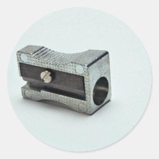 Pencil sharpener Photo Round Sticker