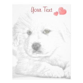 Pencil Sketch Puppy I Love You Letterhead