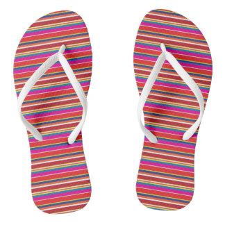 Pencil Stripes Beach Flip Flops