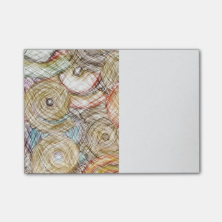 pencil swirls post-it notes