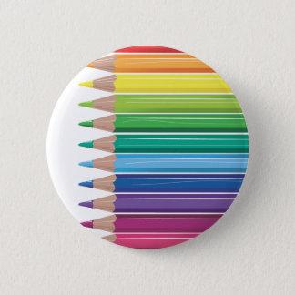 Pencils 2 Inch Round Button