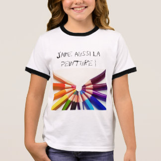 Pencils colors in range ringer T-Shirt