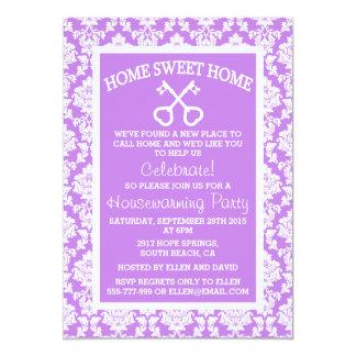 Pendaison de crémaillère à la maison douce de carton d'invitation  12,7 cm x 17,78 cm