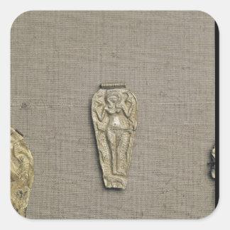 Pendant depicting Astarte, goddess of fertility Square Sticker