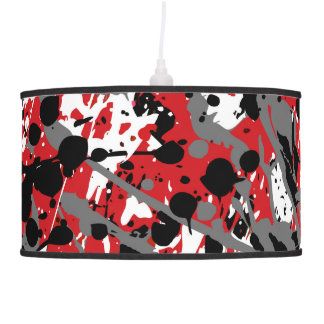 Pendant lamp in modern abstract sprayed style