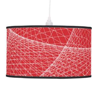 Pendant lamp in modern style - red & white