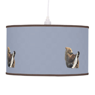 Pendant Lamp w/ grizzly bear cub