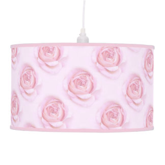Pendant Lamp with pink roses