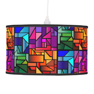 """Pendant Lamp with """"Stained Glass"""" design"""