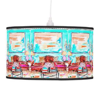 Pendant lamp wth living room design