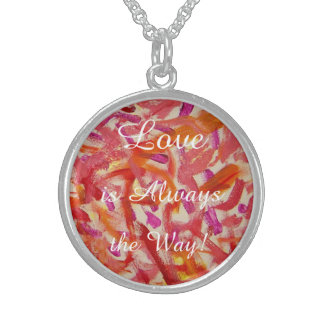 Pendant-Love is Always the Way Sterling Silver Necklace