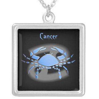 Pendentif signe du zodiac Cancer Square Pendant Necklace