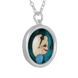 Pendentive Alice Silver Plated Necklace