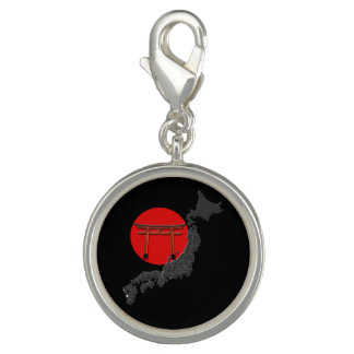 "Pendentive special round ""Japan"", melts black Charm"