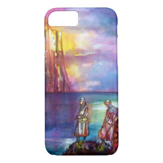 PENDRAGON Medieval Knights,Lake Sunset,Fantasy iPhone 8/7 Case