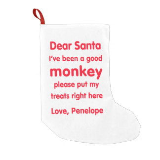 Penelope Good Monkey Christmas Stocking