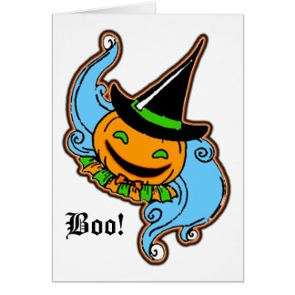PengiHoliday pumpkinhead greeting card
