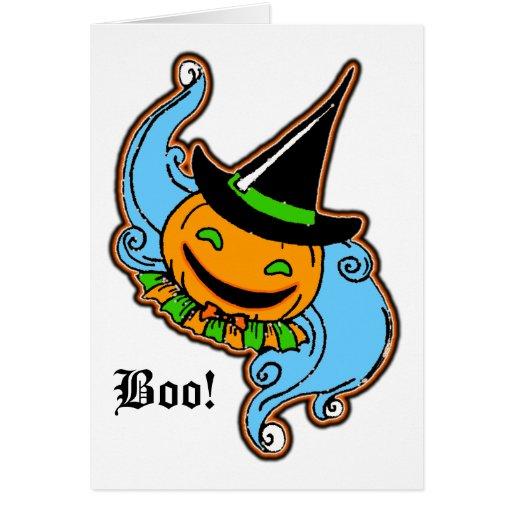 PengiHoliday pumpkinhead greeting card