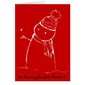 PengiHoliday wishing snowman card