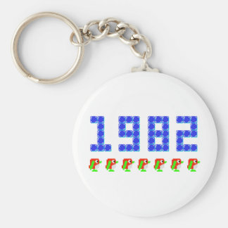 Pengo 1982 Penguins and Ice Cubes Key Chain