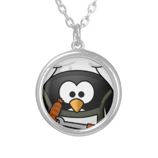 penguin-160159_640 silver plated necklace