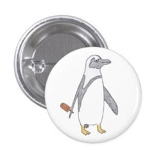 penguin 1 inch round button