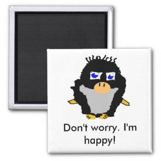 Penguin 4 square magnet