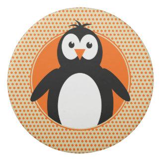Penguin add name on back orange kids eraser