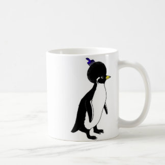 penguin afro double mug