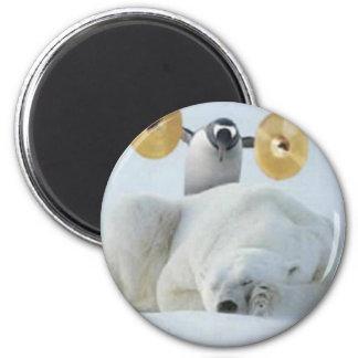 Penguin Alarm 2 Inch Round Magnet