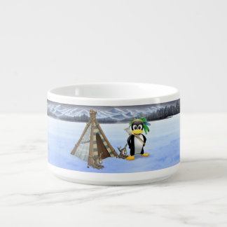 Penguin American Indian cartoon Chili Bowl
