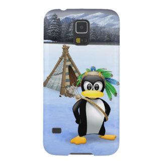 Penguin American Indian cartoon Galaxy S5 Case