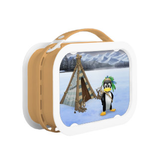 Penguin American Indian cartoon Lunchboxes