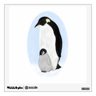 Penguin and Baby Wall Decal